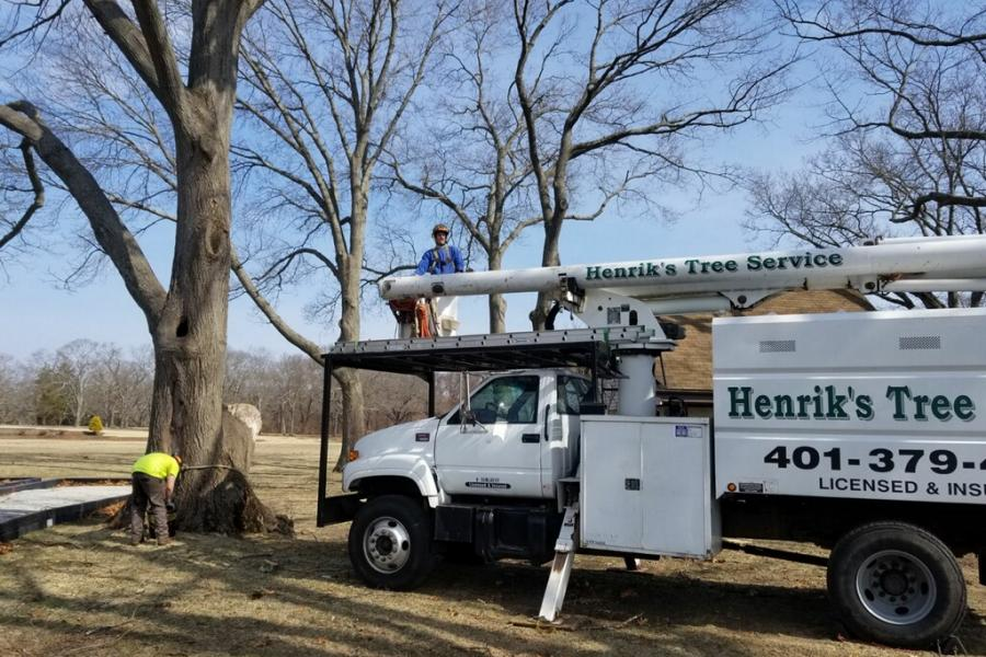 Work Day: Hernik's Tree Service Bucket Truck
